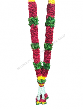 Thailand Rose Garland with Thulasi Karanai and Jasmine Kunjam