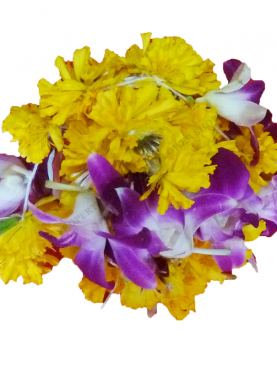 Local Kathambam Ball (Multicolor) Orchid and Marigold